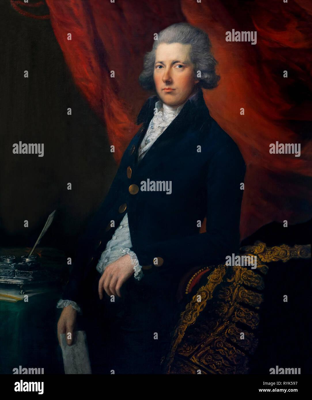 L'onorevole William Pitt il giovane, Gainsborough Dupont e Thomas Gaunsborough, circa 1787-1790, Immagini Stock