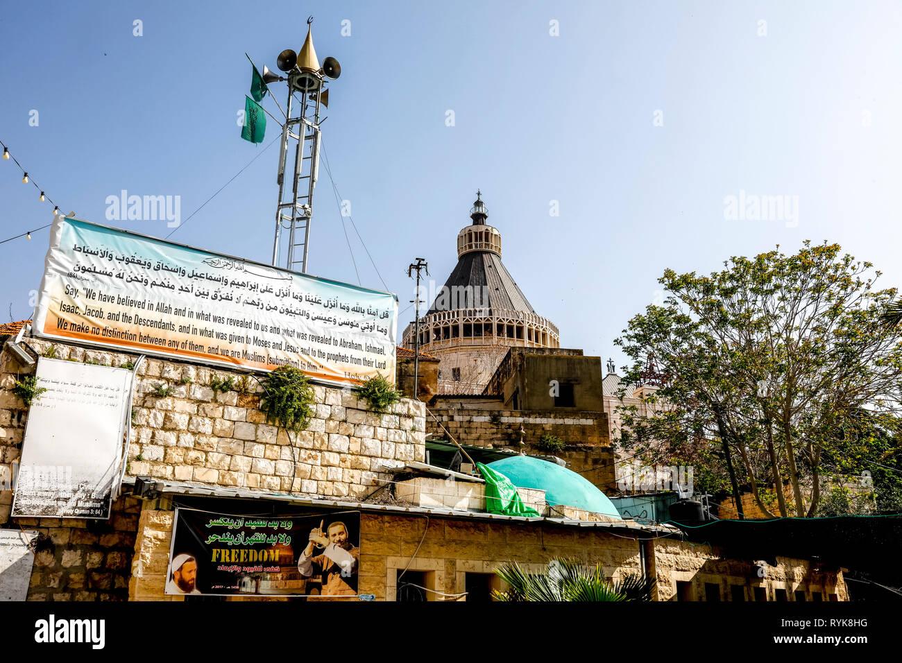 Posizione di un progetto della moschea di Nazareth, la Galilea, Israele. Foto Stock