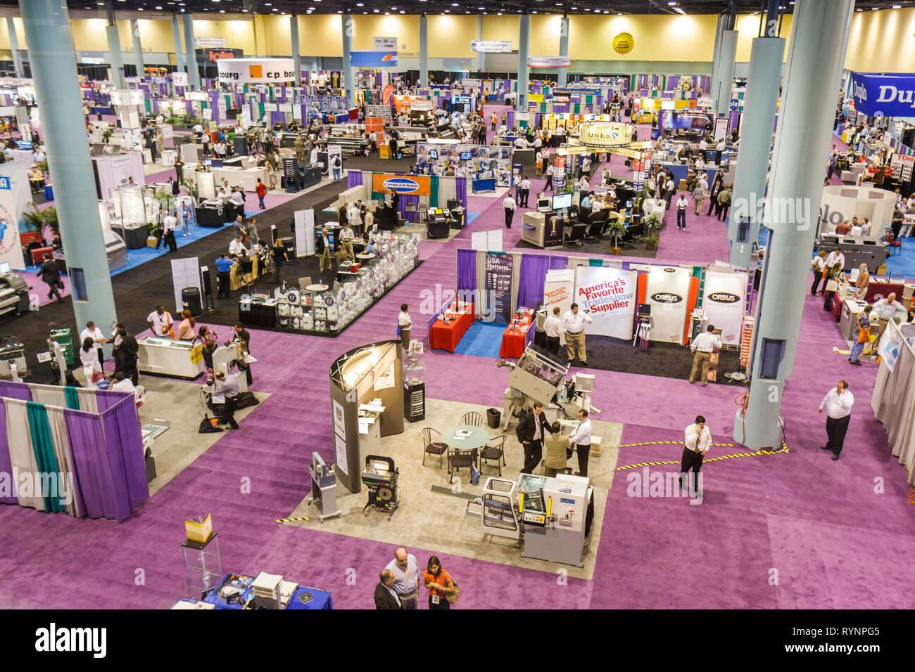 Miami Beach Florida Miami Beach Convention Centre Centre grafica delle Americhe Expo Conferenza e fiera espositori oltre Immagini Stock