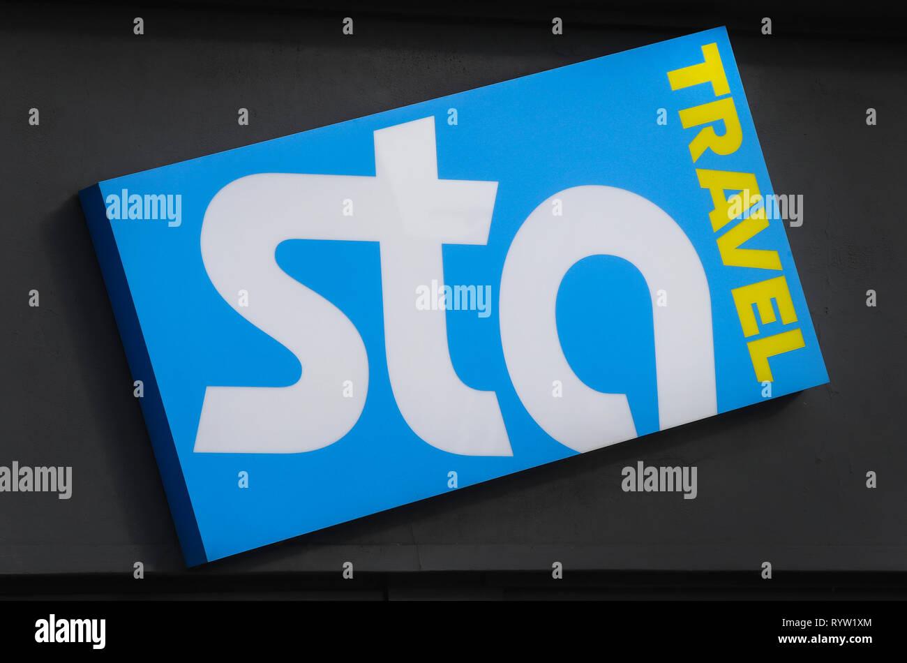 STA Agente di viaggio shop in Southampton Immagini Stock