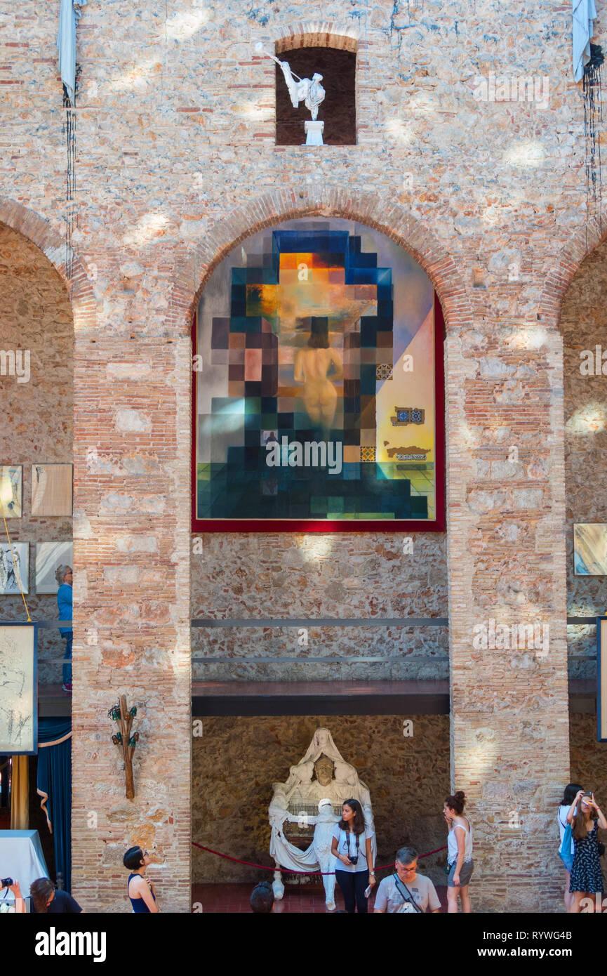 Figueres spagna luglio 17 2017 hall con lincoln in dalivision