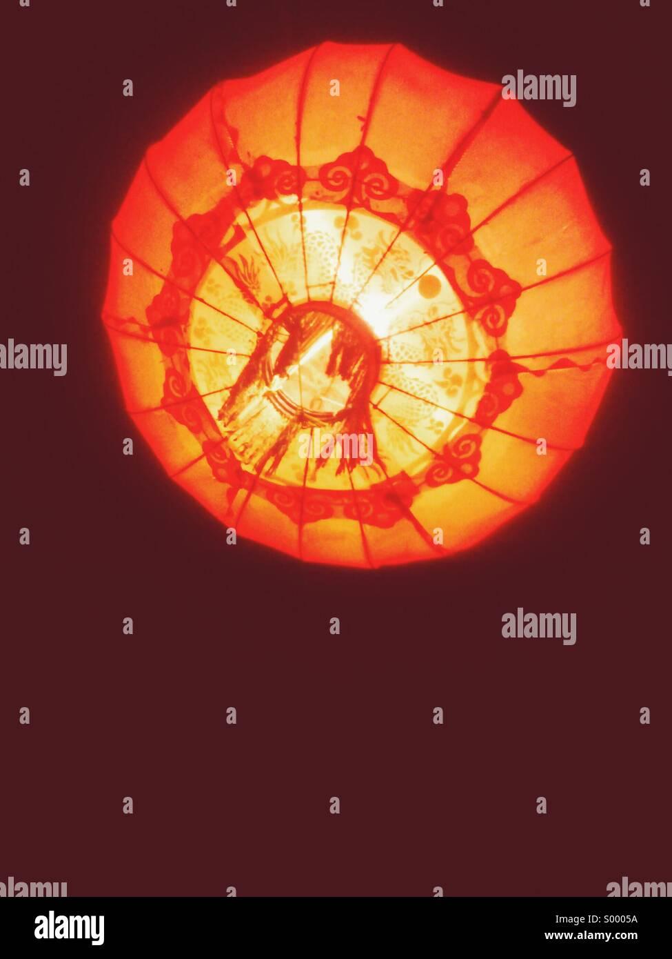Luce arancione Immagini Stock