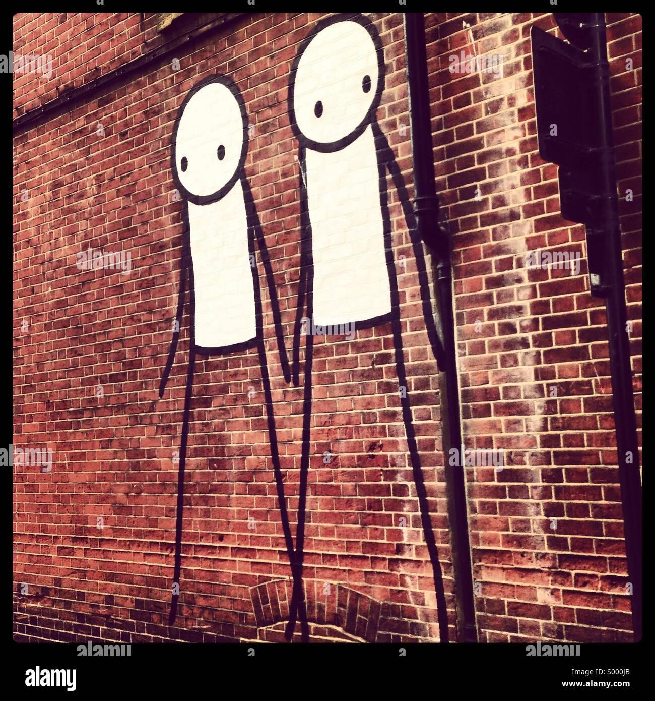 Graffiti, Chichester, Regno Unito Immagini Stock