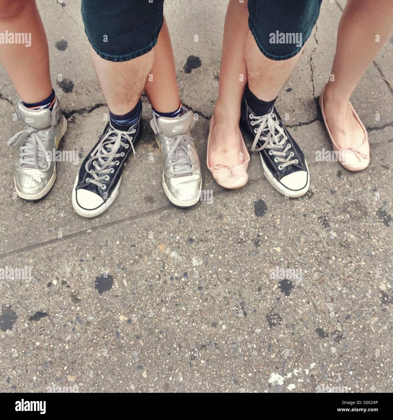 Sei piedi Immagini Stock