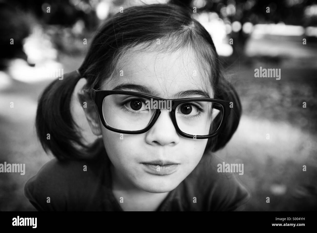 Con gli occhiali Immagini Stock