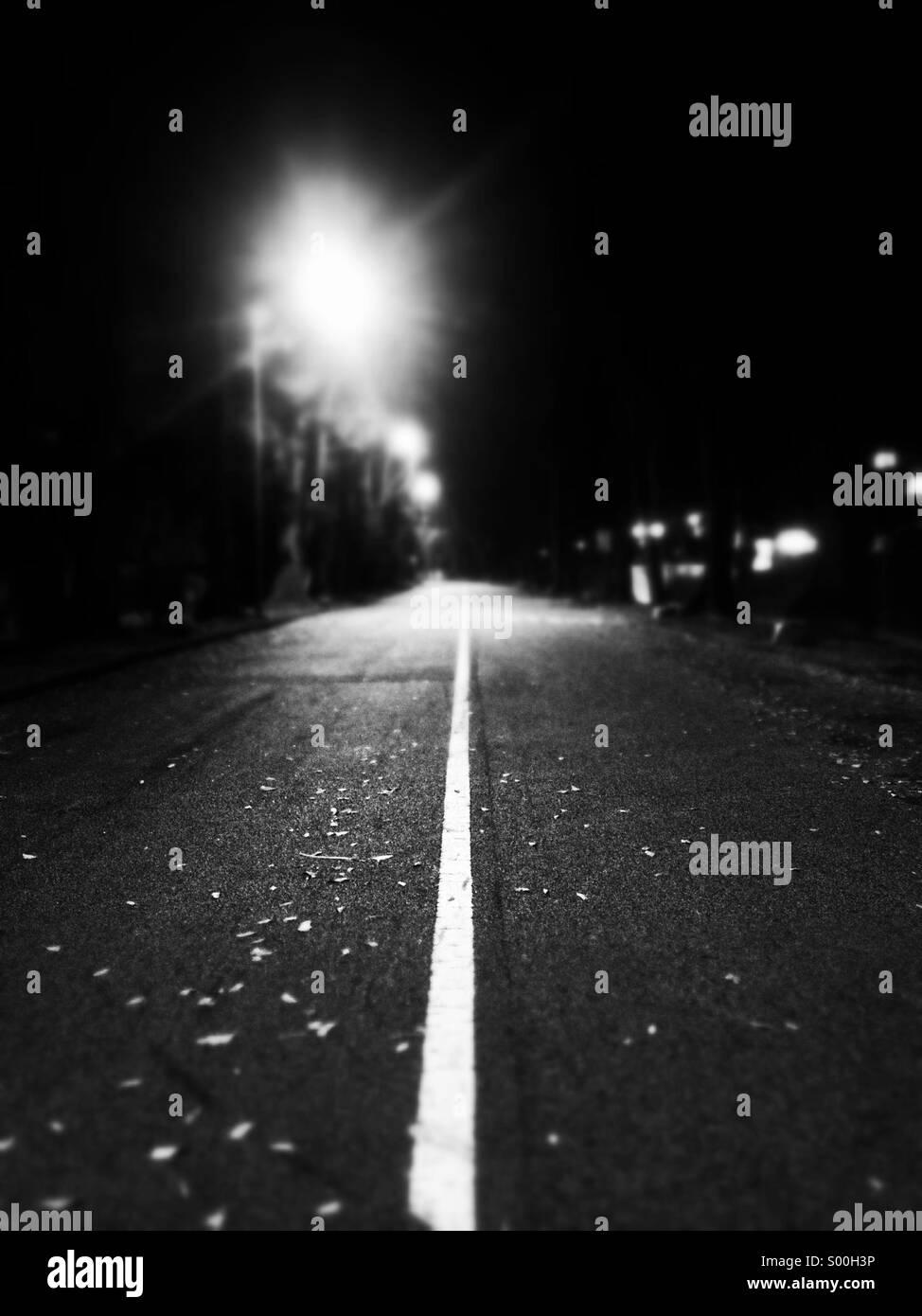 Strada solitaria Immagini Stock