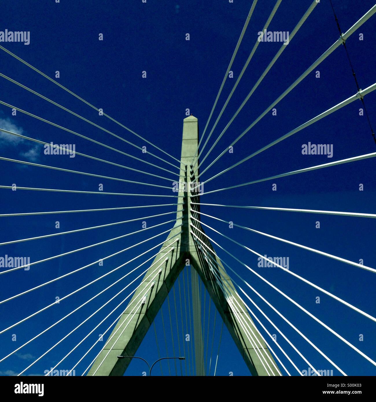 Zakim Bridge, Boston Immagini Stock