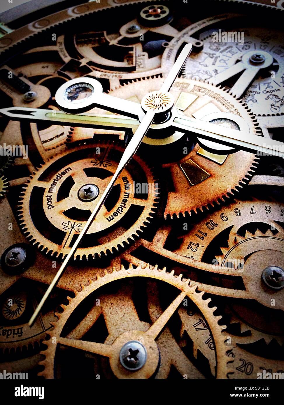 Tempo di clock pezzo Immagini Stock
