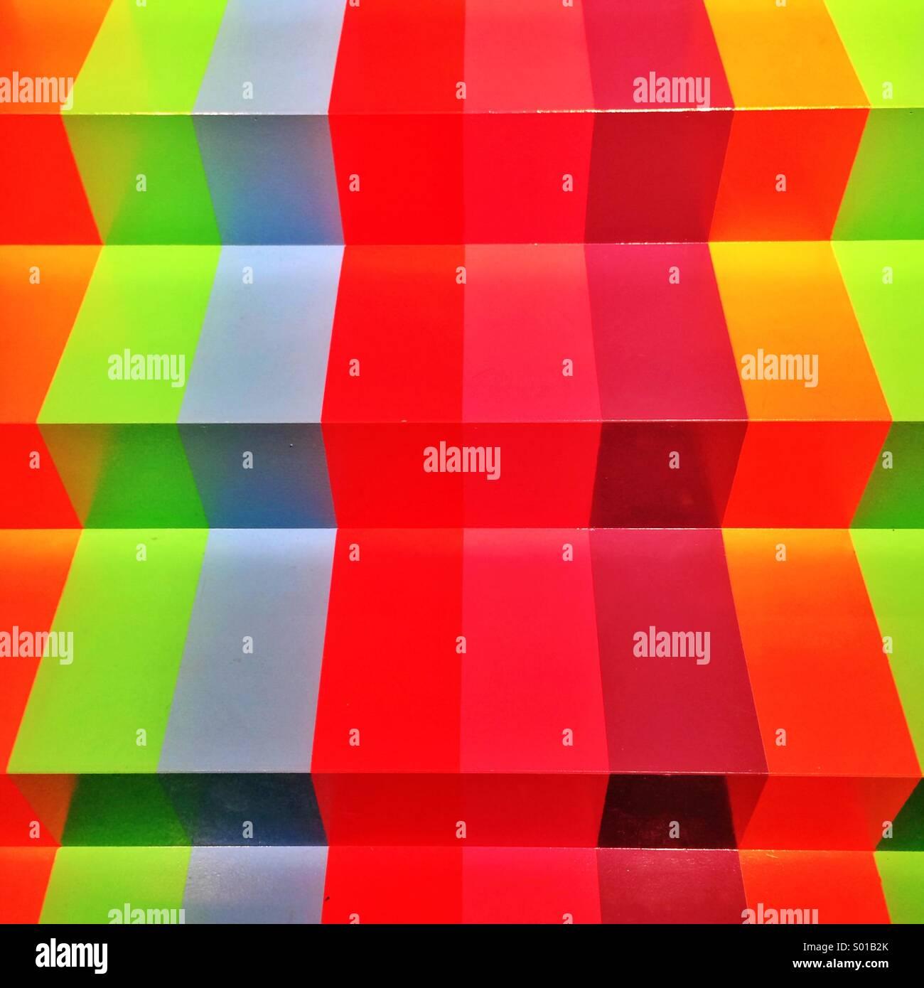 Rainbow fasi colorate a Galleria Nazionale di Victoria Immagini Stock