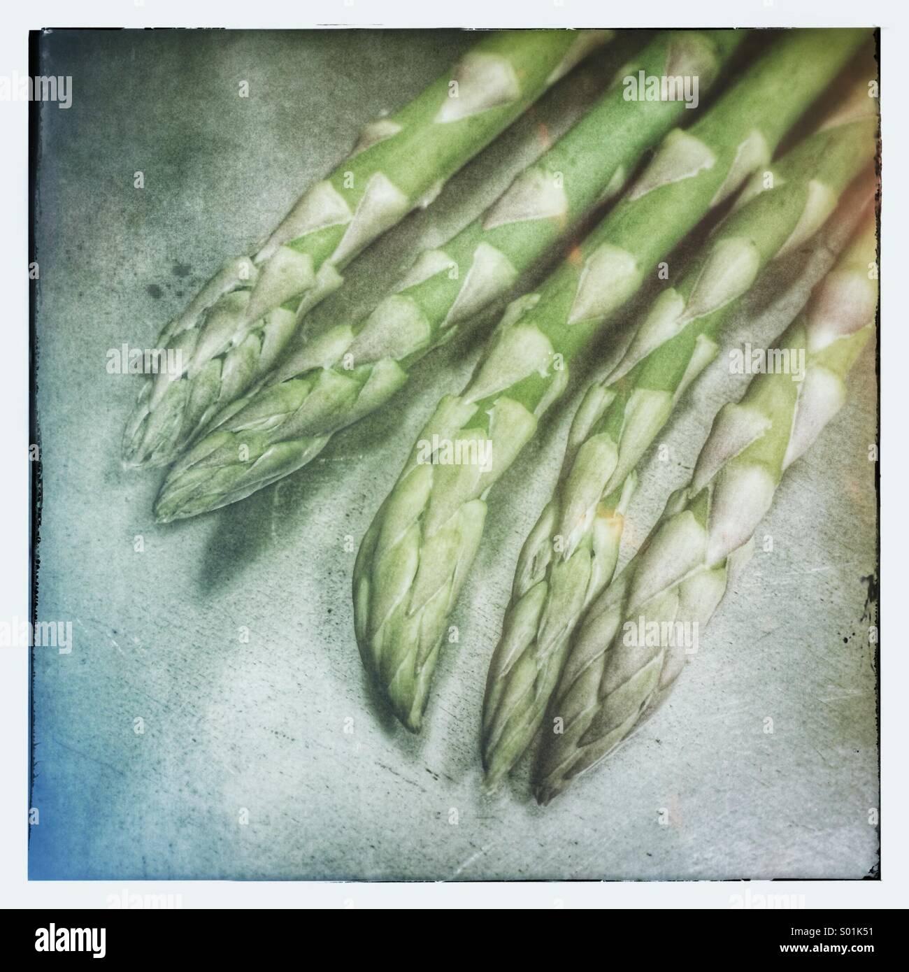Punte di asparagi Immagini Stock