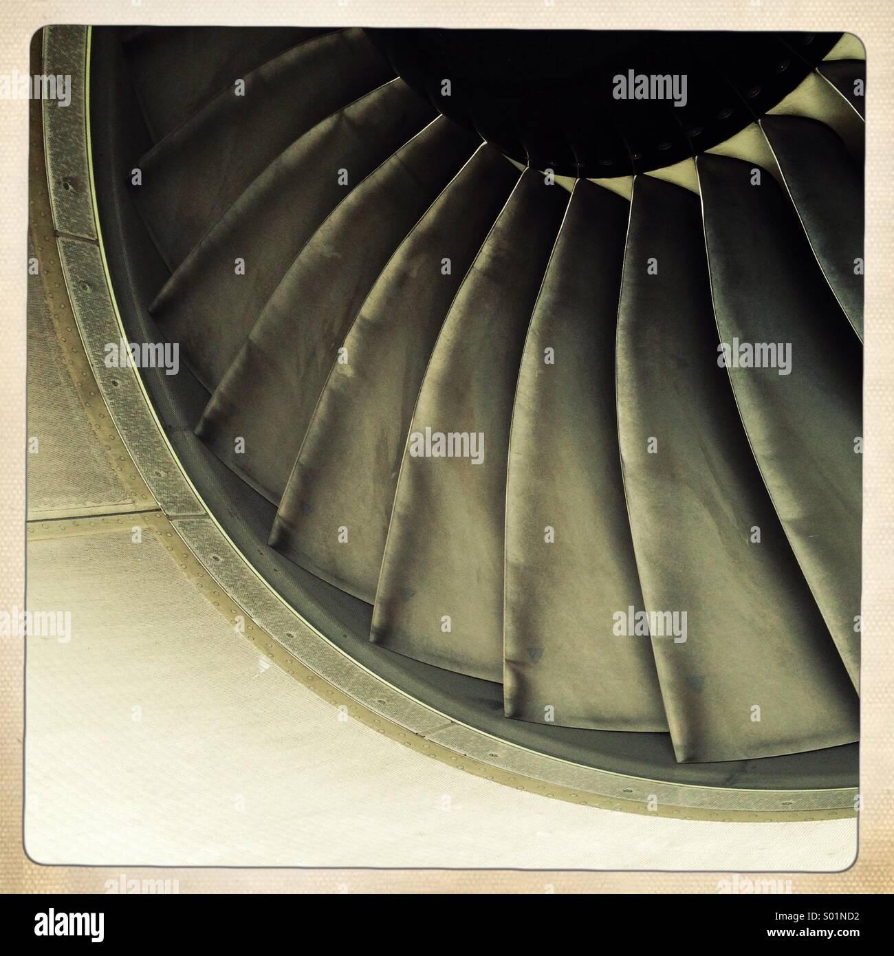 Motore aeronautico lame Immagini Stock