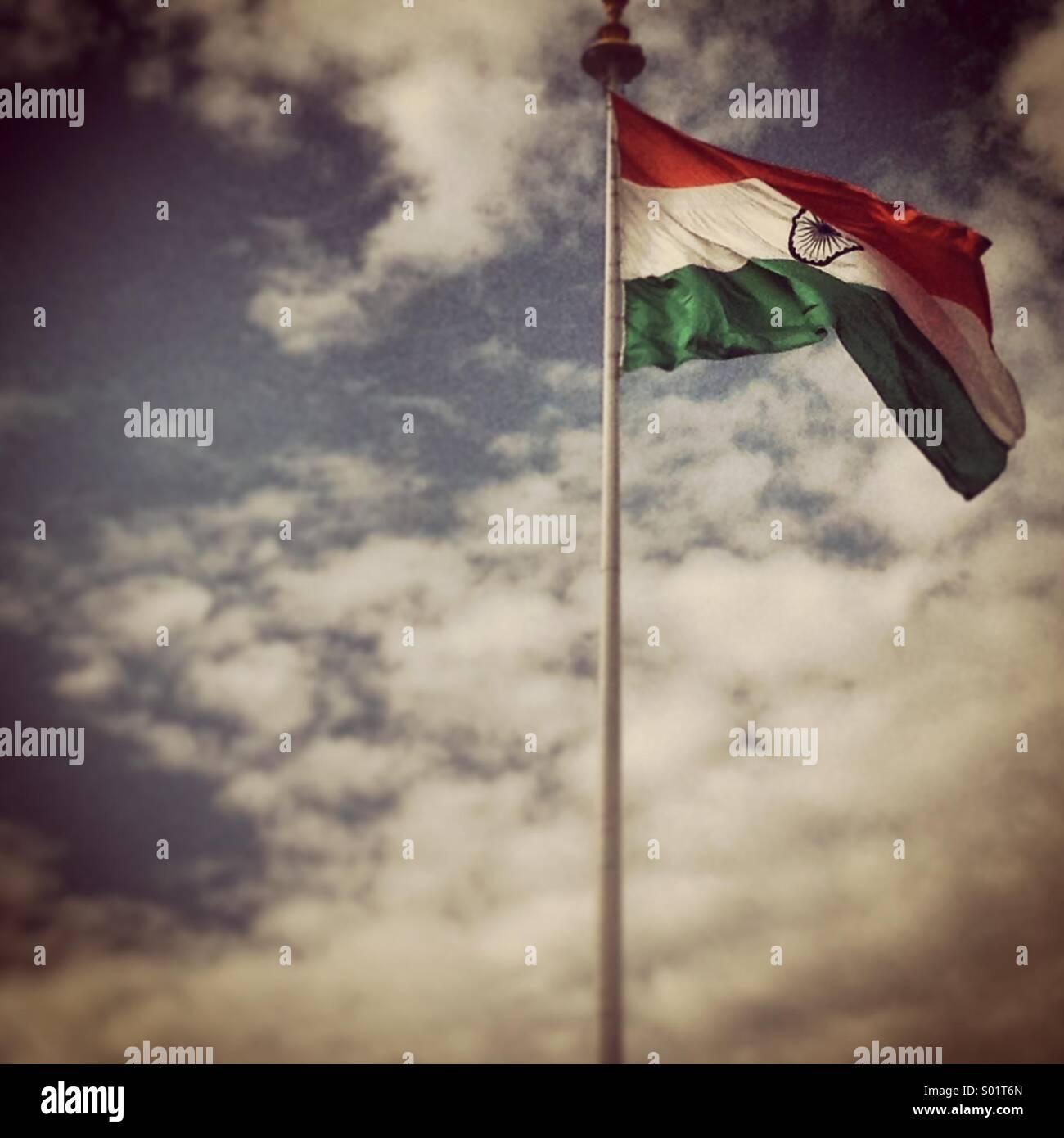 Bandiera indiana Foto Stock