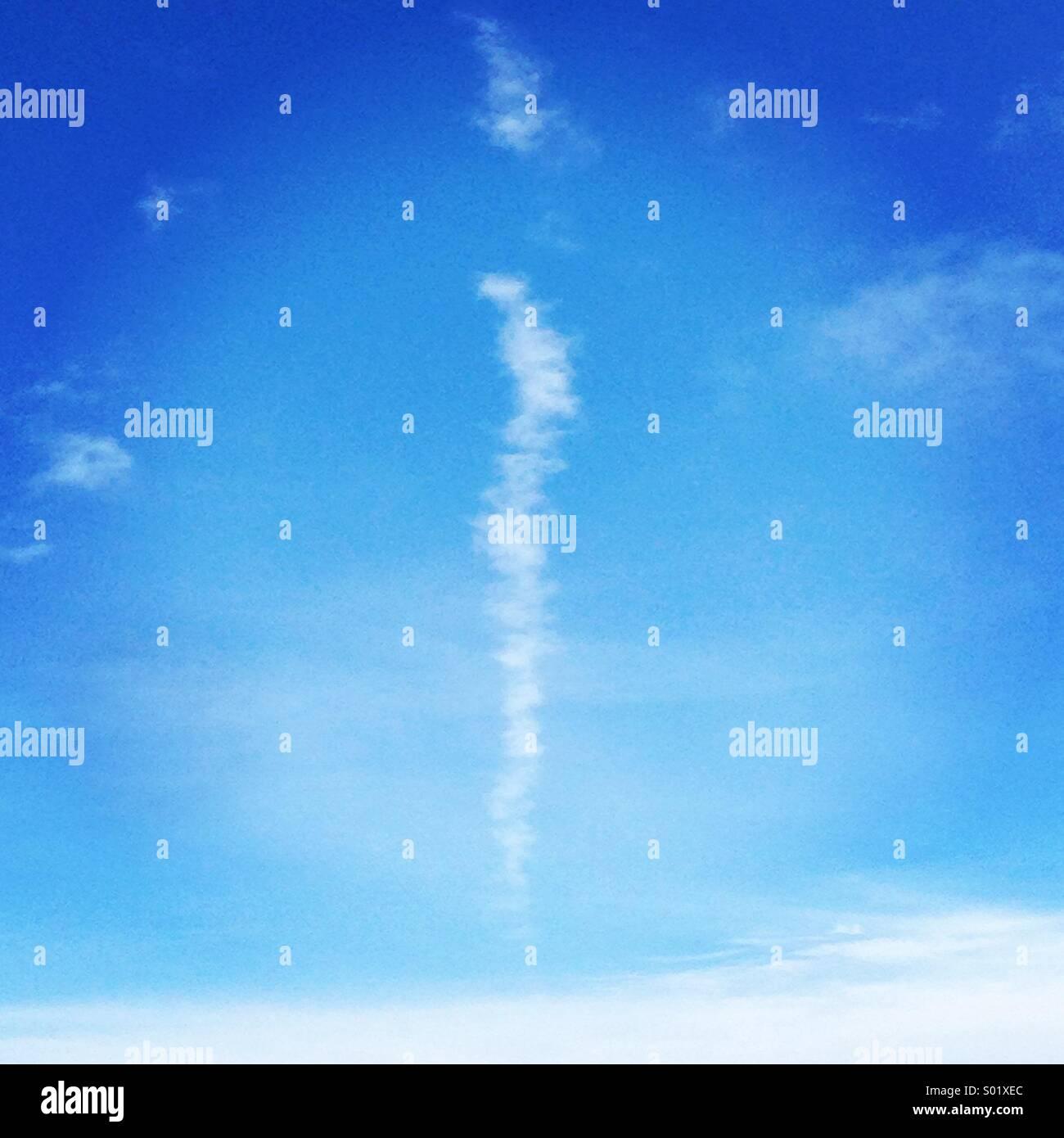 Linea di nube Immagini Stock