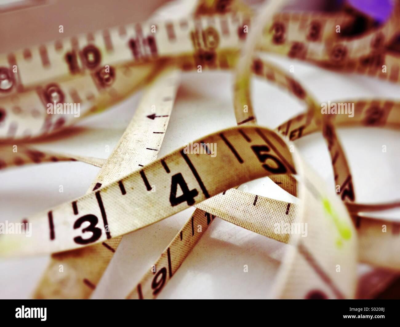 Misura di nastro Immagini Stock