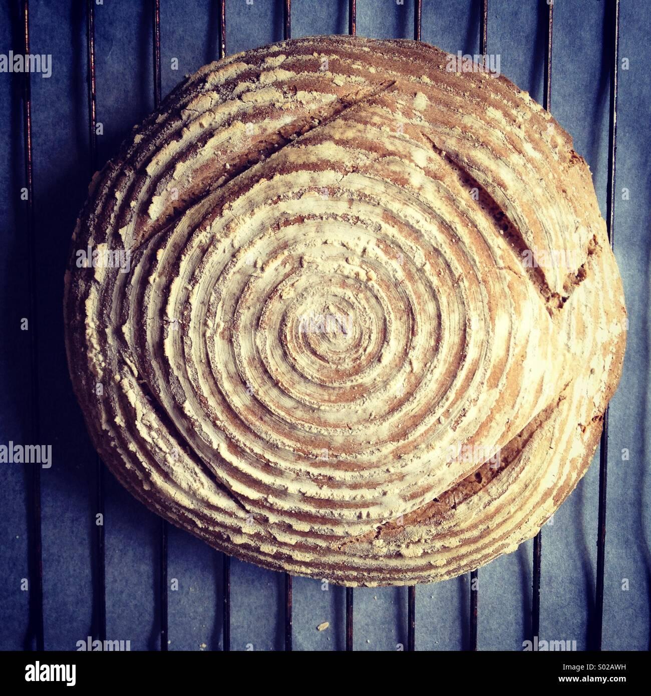 Pane a lievitazione naturale Immagini Stock
