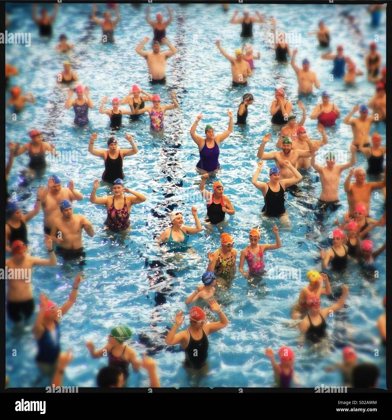 Sport Rilievo, il Centro Acquatico Nazionale, Stratford, Londra Immagini Stock