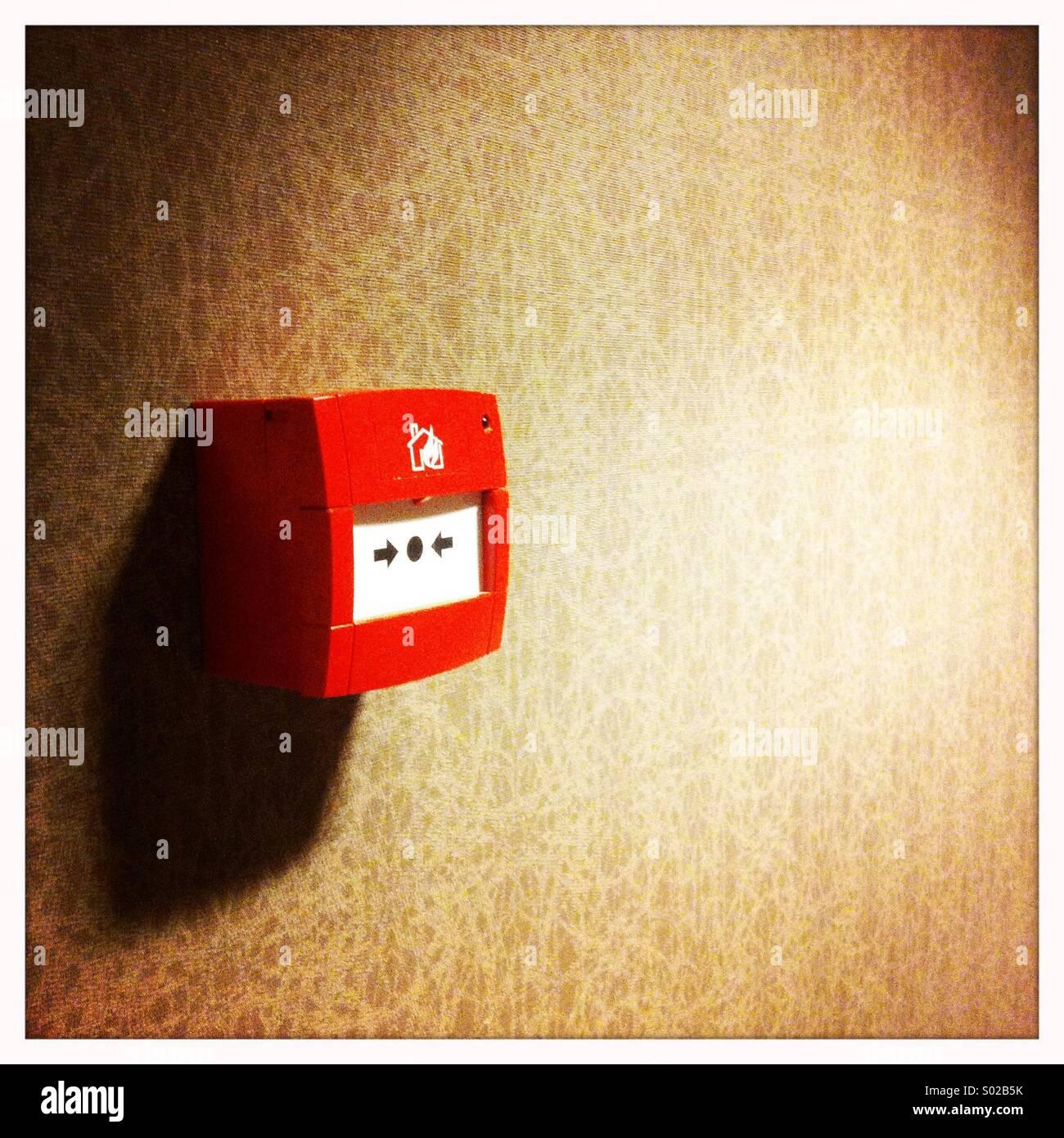 Allarme antincendio Foto Stock
