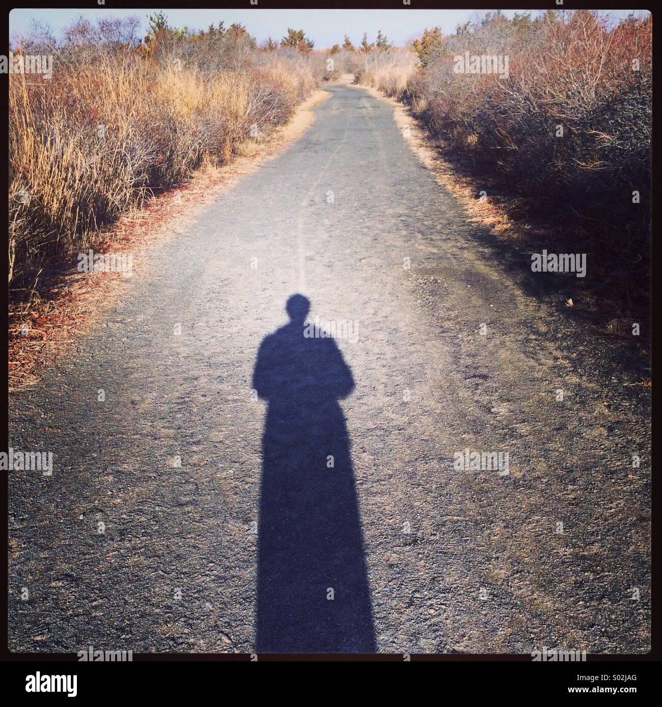 La mia ombra Immagini Stock