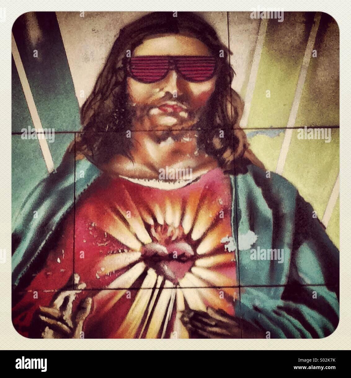 Occhiali Foto A SoleGraffiti SivigliaSpagna Cristo Gesù Con Da jRL4q35A