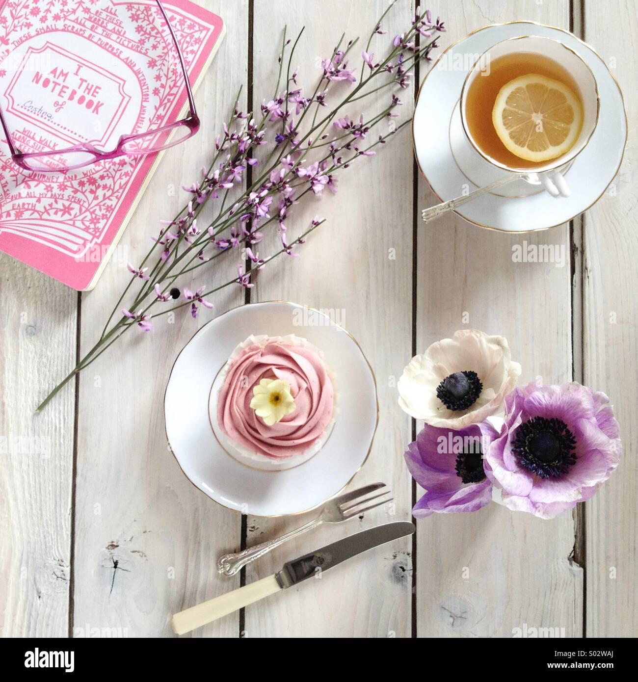 Spring tea break Immagini Stock