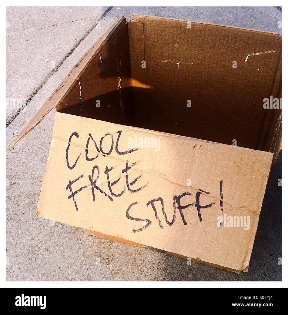 Scatola di raffreddare roba libero Foto Stock