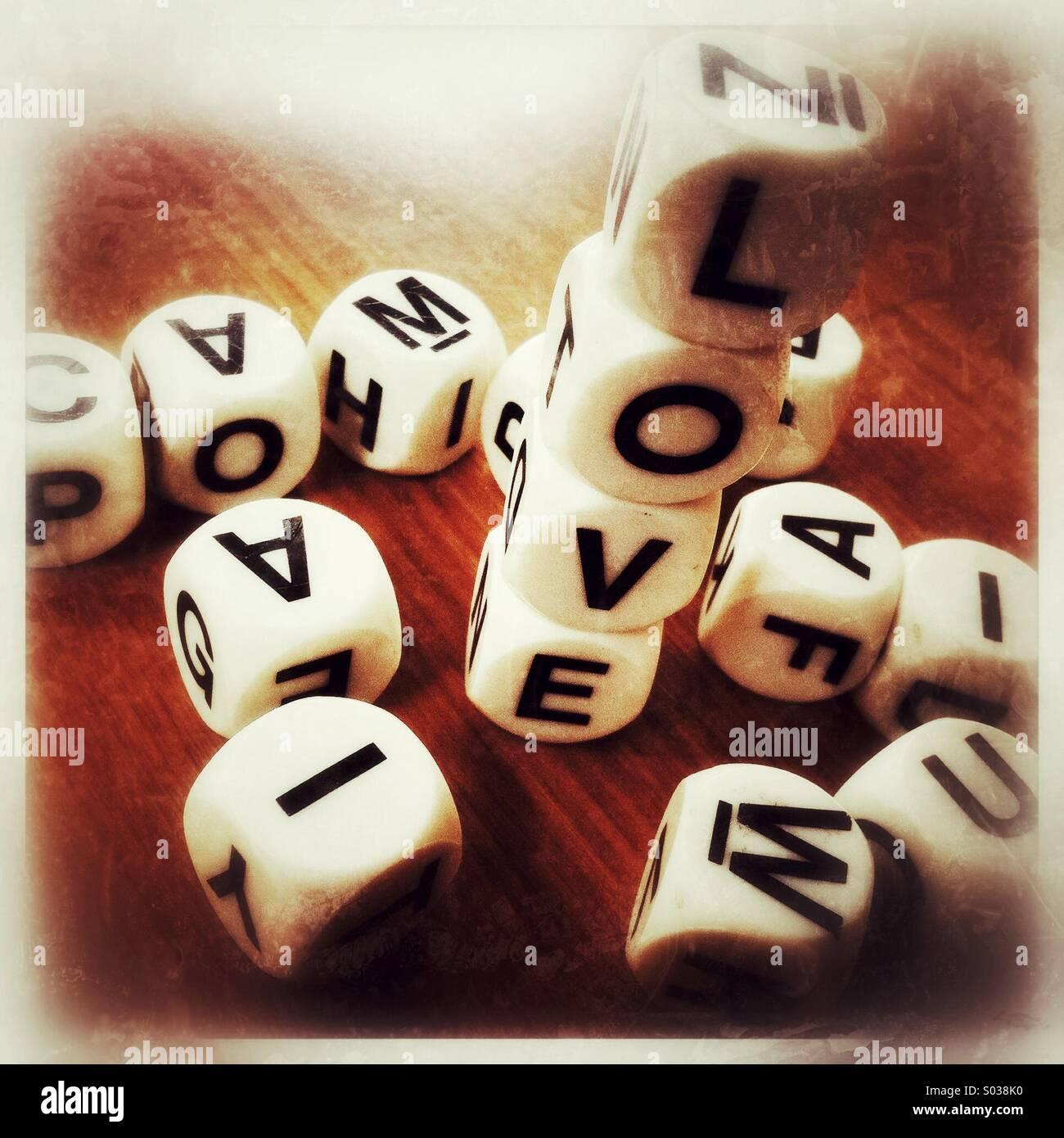 Gioco di Love Immagini Stock