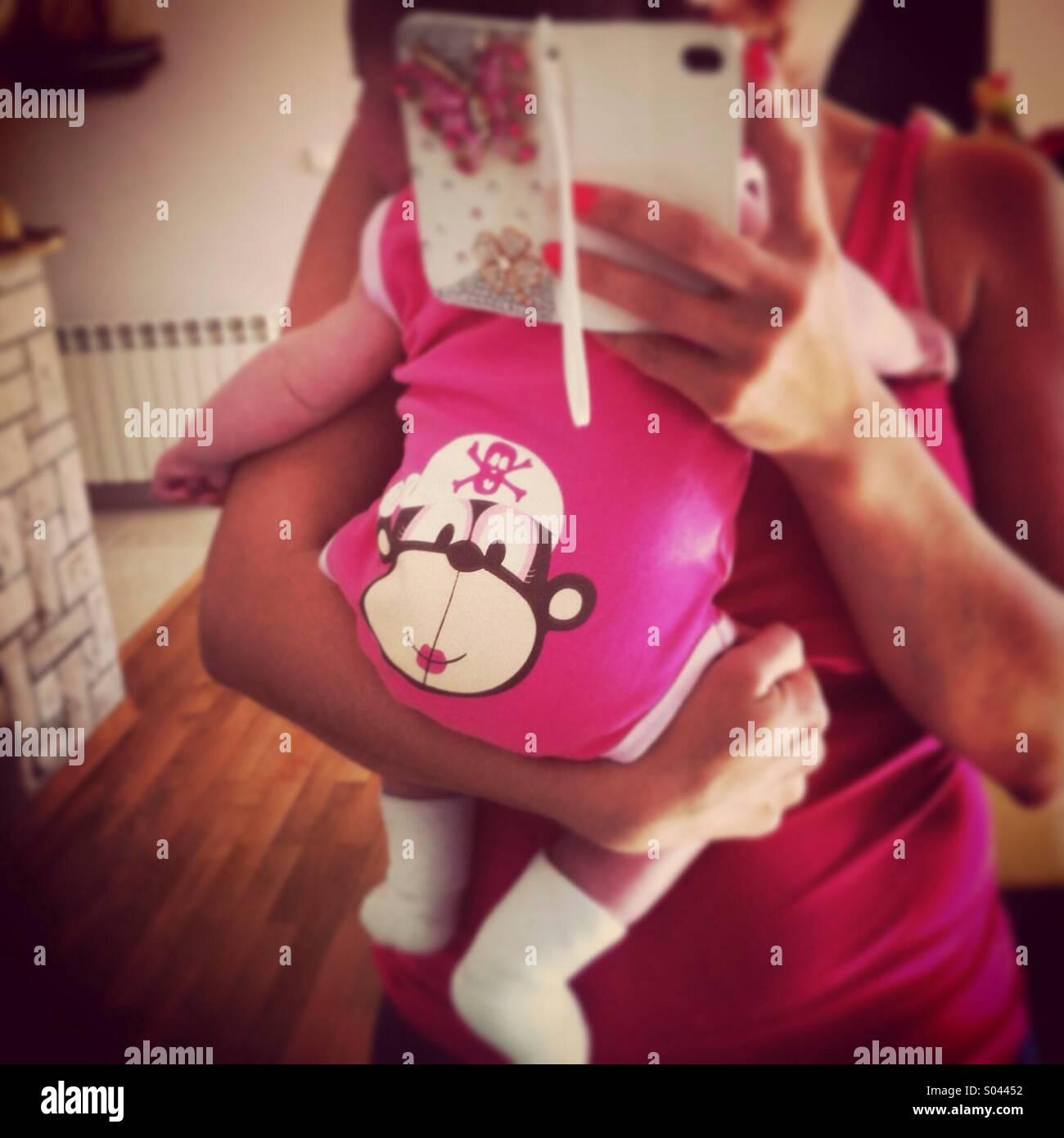 Azienda madre baby Immagini Stock