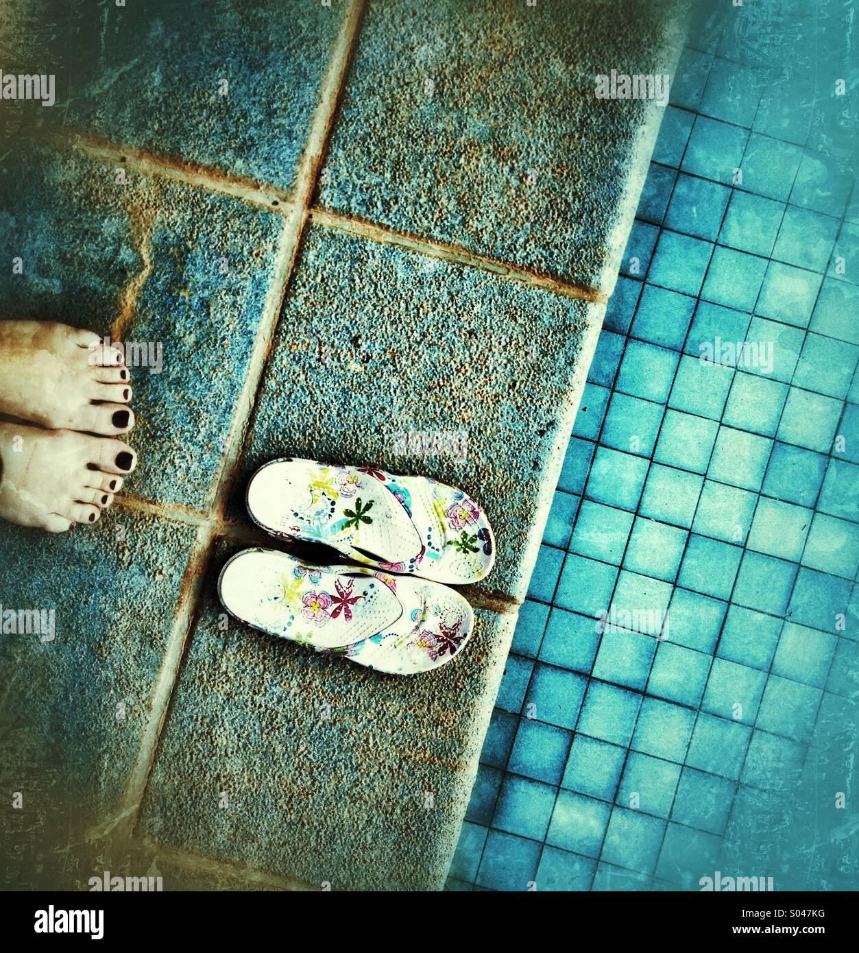 Piedi e sandali Immagini Stock
