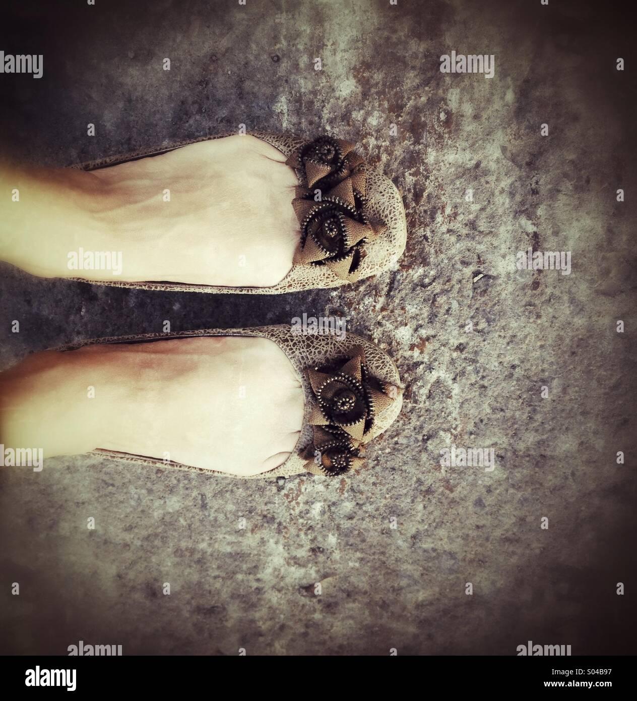 Scarpe da donna Immagini Stock