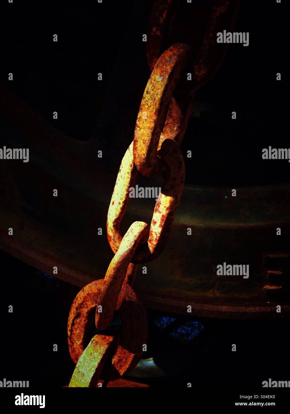 Collegamenti in una catena. Immagini Stock