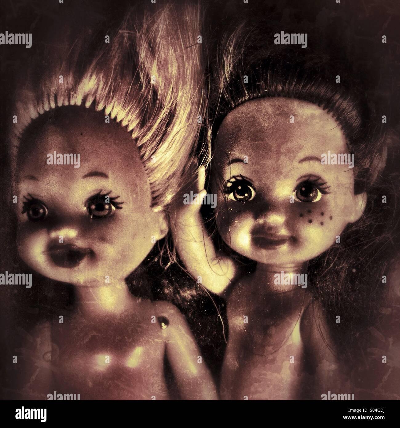 Creepy poco bambole Immagini Stock