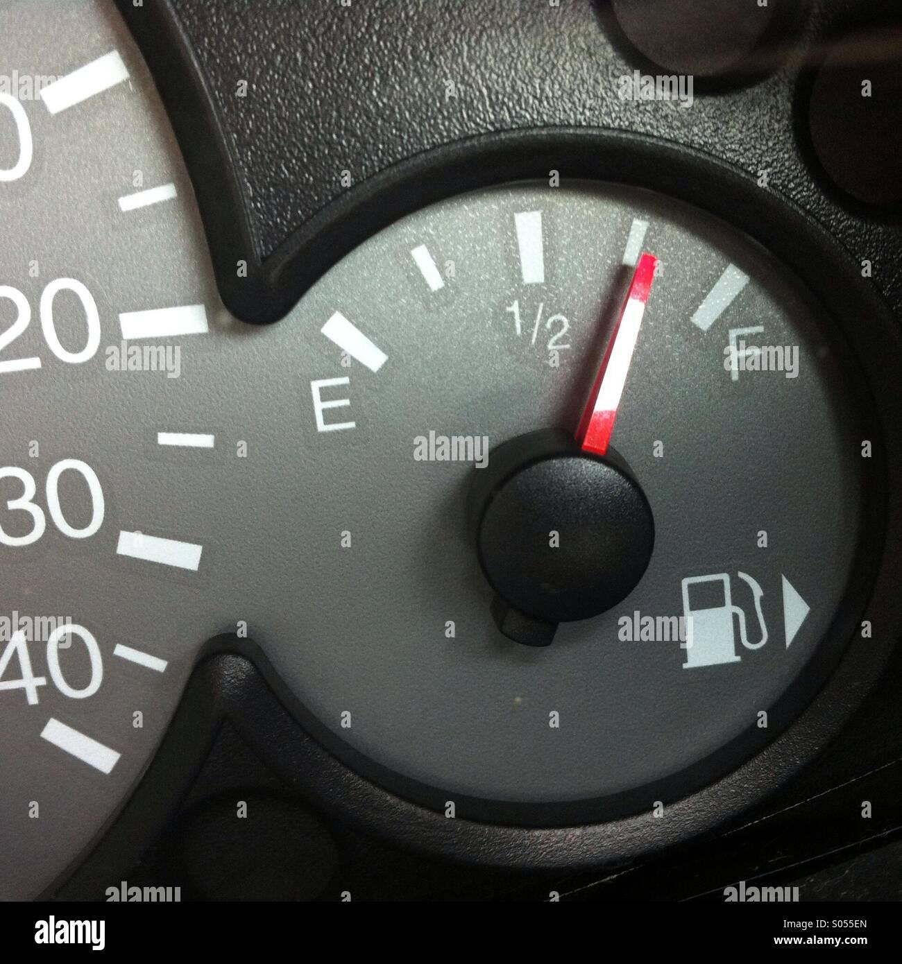 Indicatore livello carburante Immagini Stock