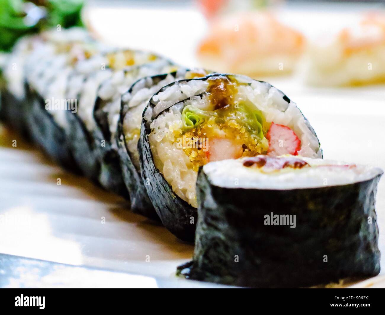 California Roll sushi Immagini Stock