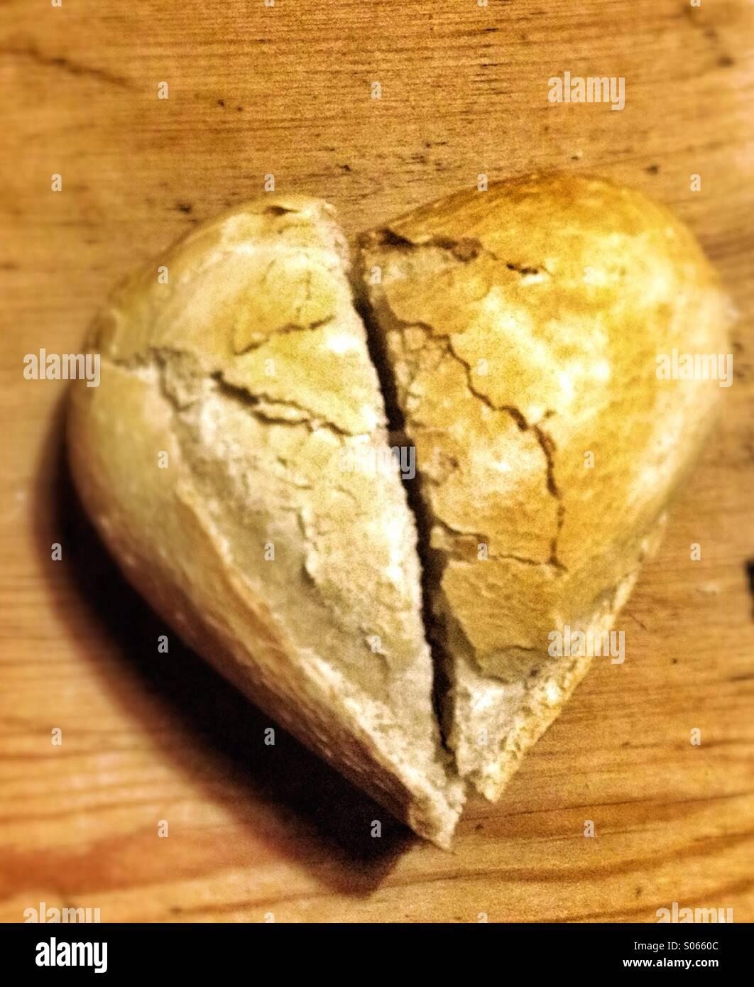 Adoro il pane Foto Stock