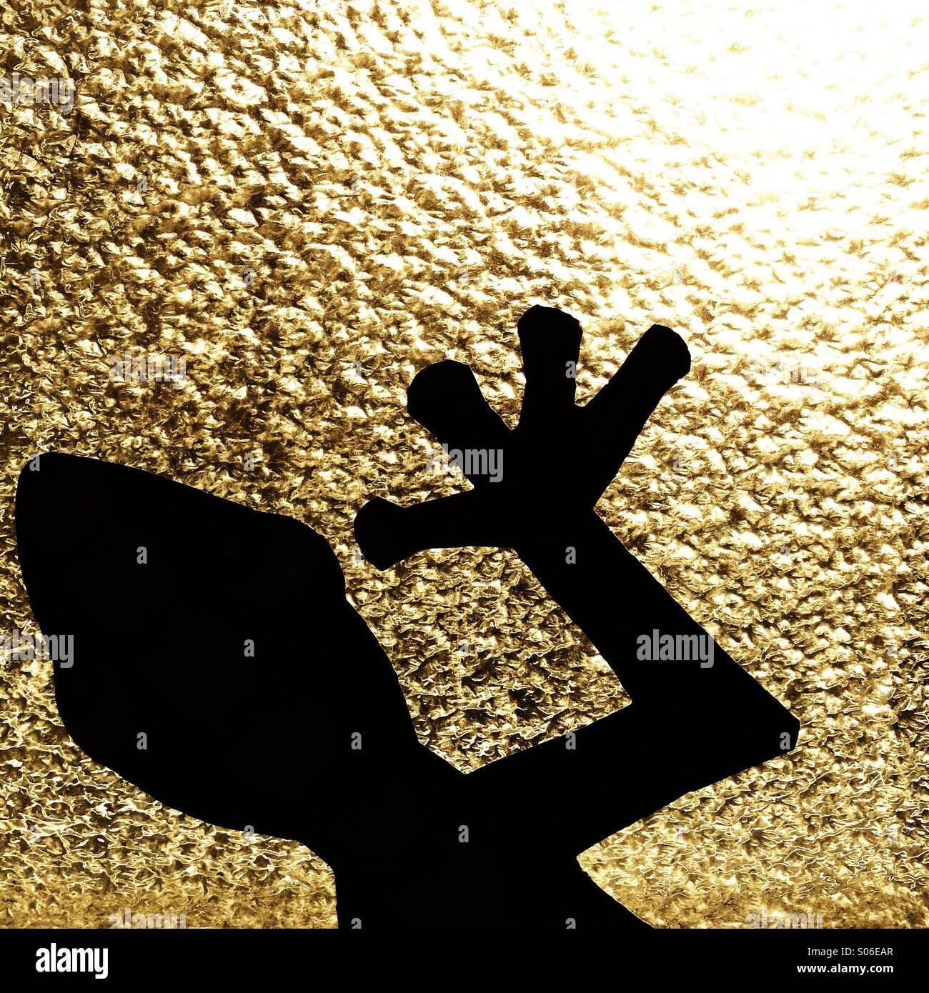Silhouette Gecko Immagini Stock