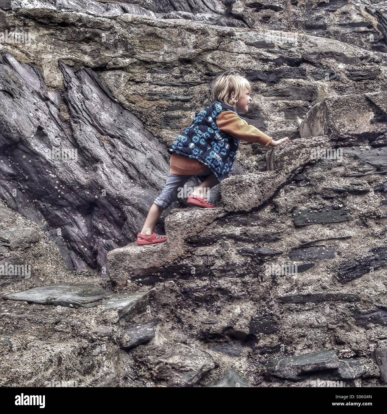 Passaggi d'arrampicate Immagini Stock