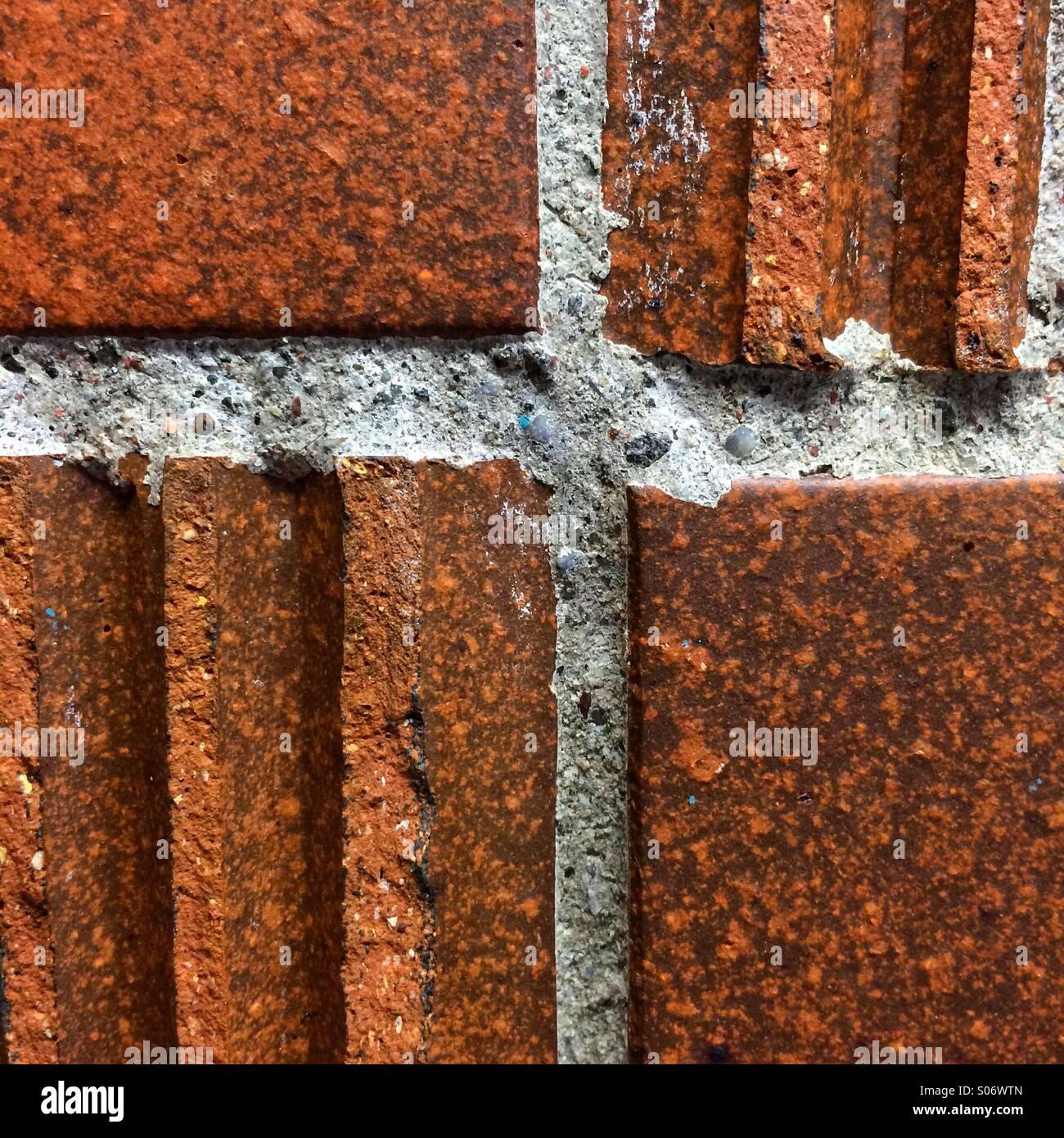 Muro di mattoni in dettaglio Immagini Stock