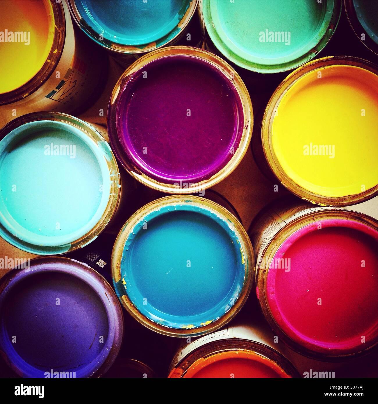 Paint Pots, visto dal di sopra Immagini Stock