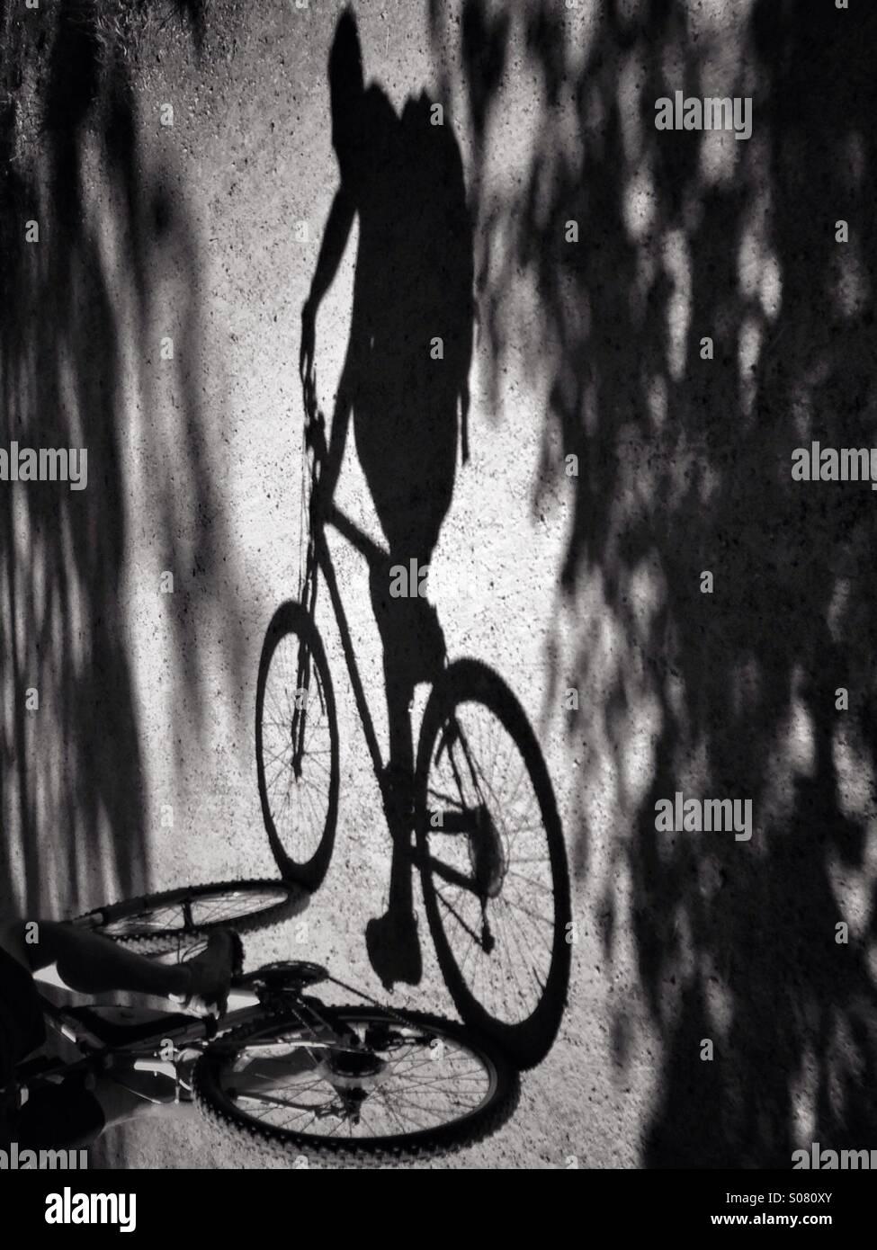 Le biciclette possono cambiare, ma il ciclismo è senza tempo. Foto Stock