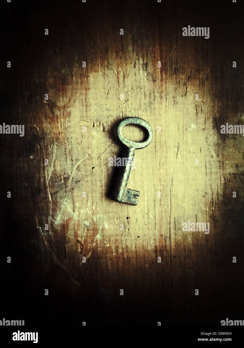 Vecchia chiave Immagini Stock