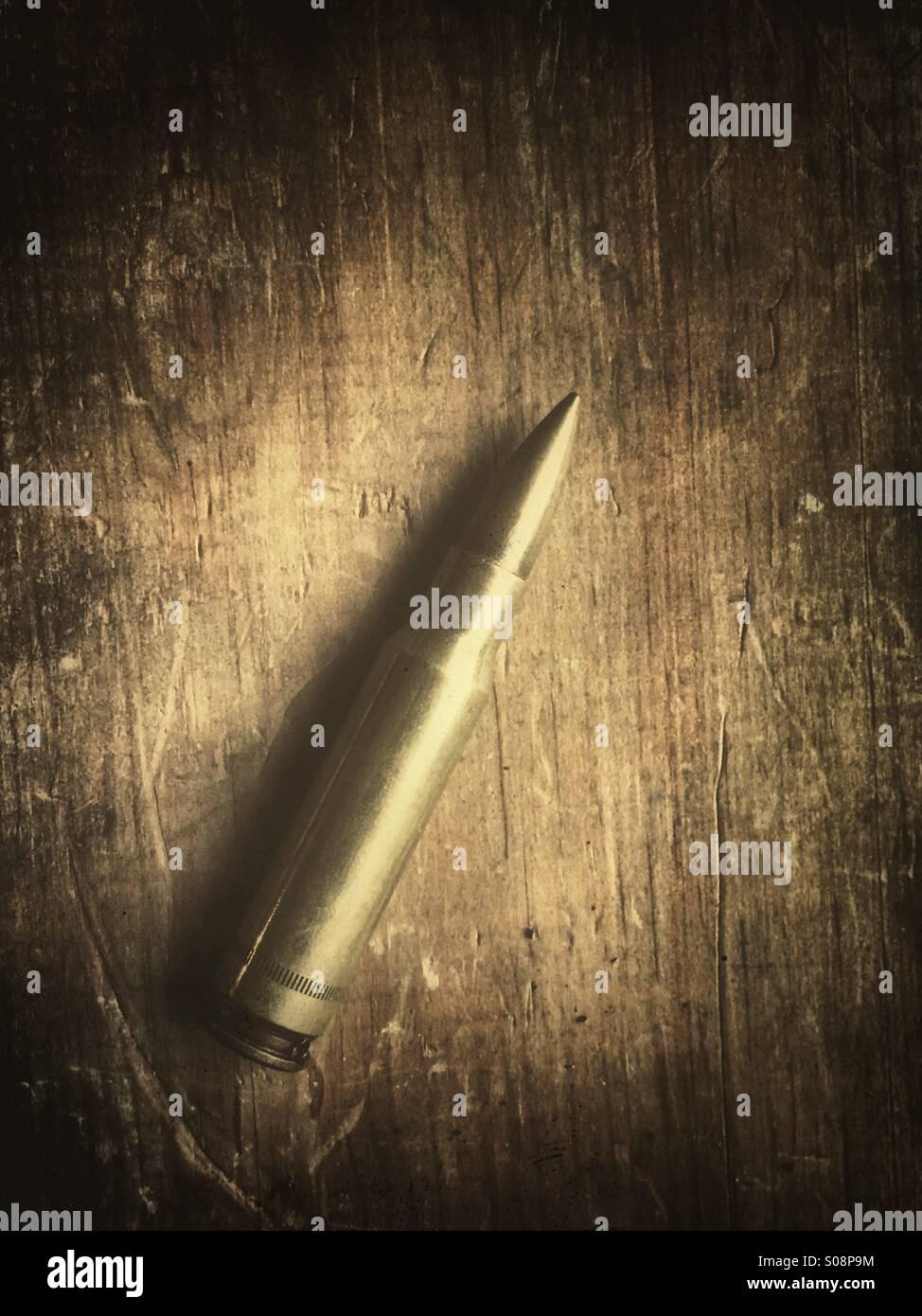 Un solo proiettile Immagini Stock