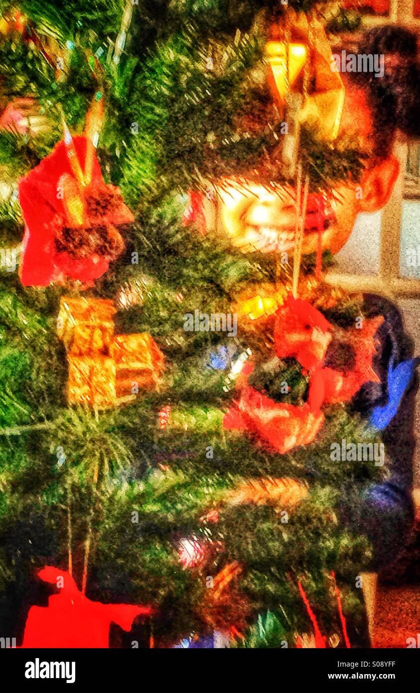L'albero di Natale Immagini Stock
