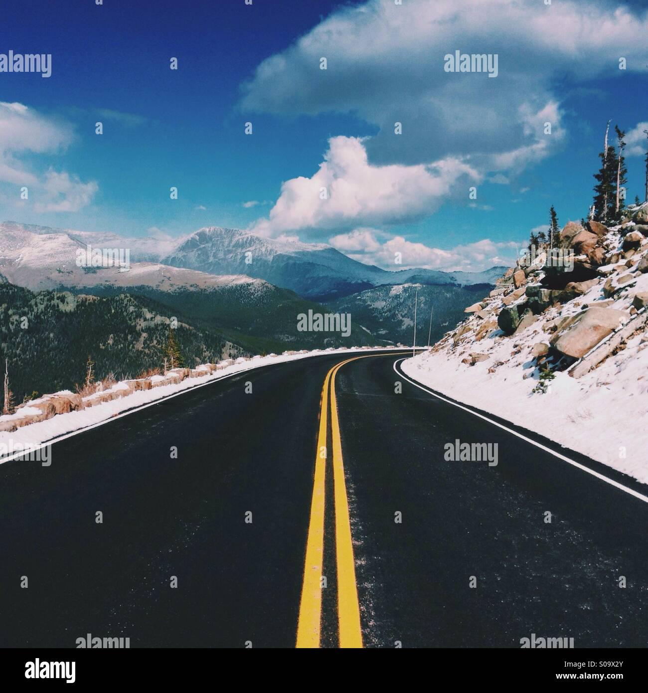 Strada di Montagna in Colorado Immagini Stock