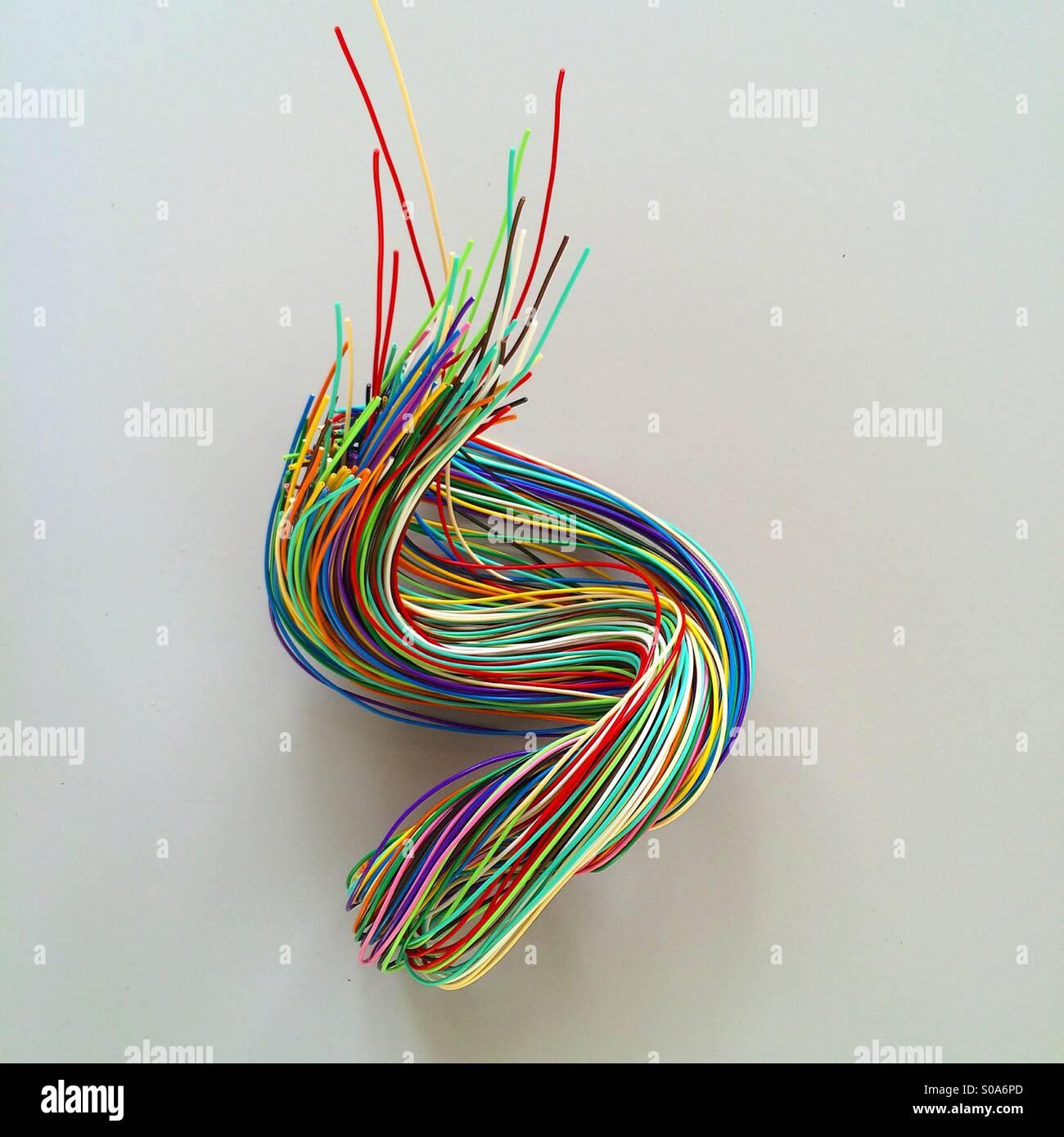 Scultura di filo Immagini Stock