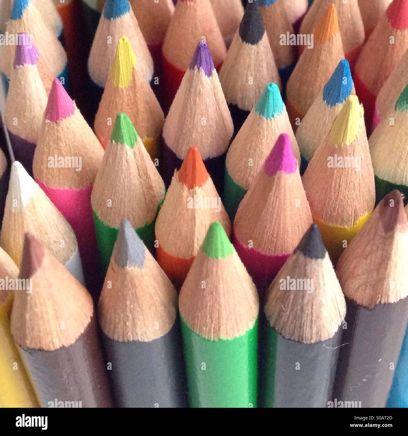 Tutti insieme i colori Immagini Stock