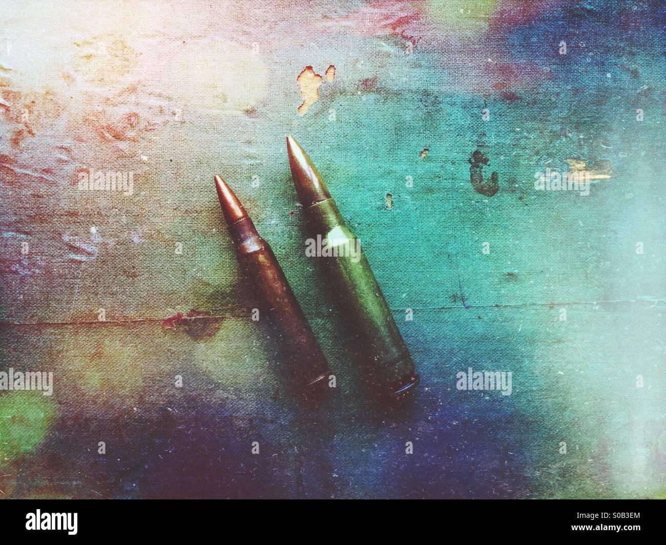 Due pallottole Immagini Stock