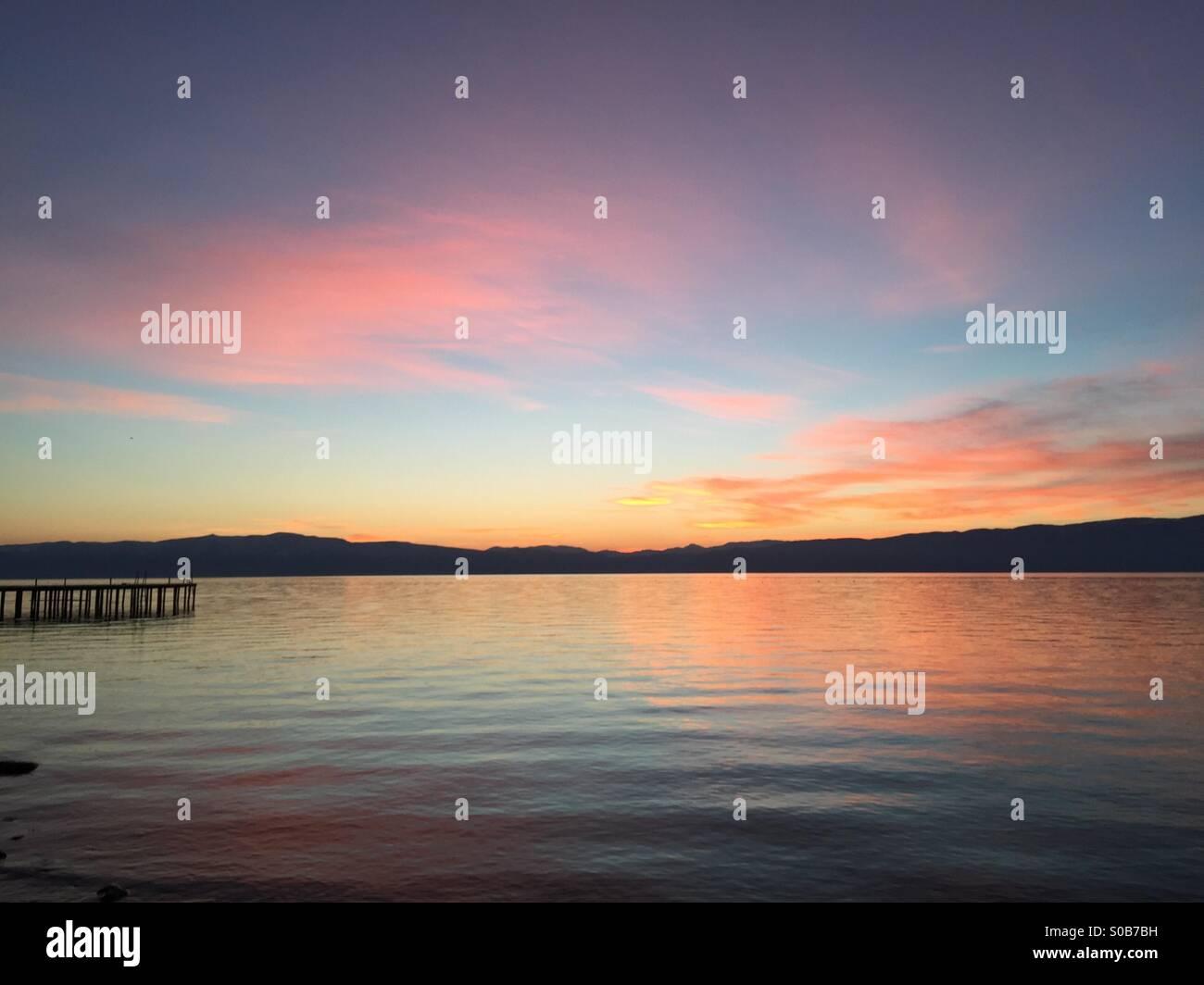 Il bellissimo tramonto Immagini Stock