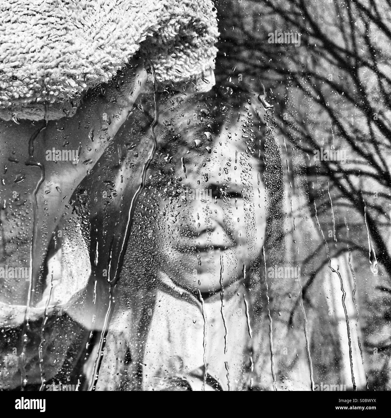 Window Washer Immagini Stock