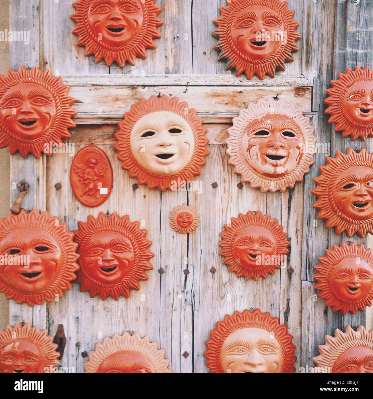 Suns in ceramica Immagini Stock