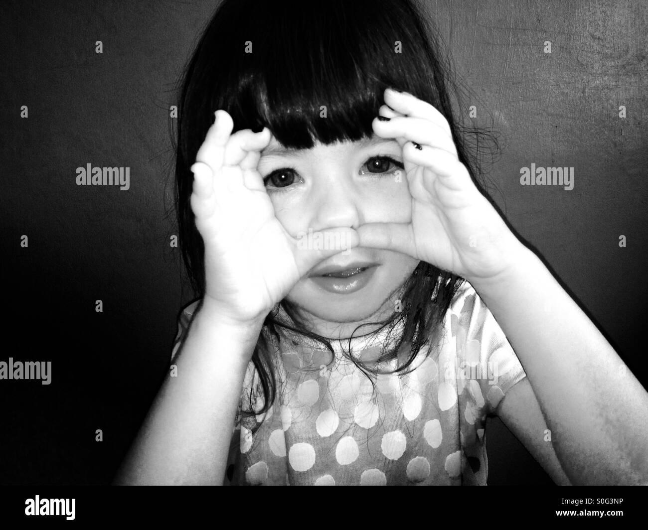 3 - anno-vecchia ragazza Immagini Stock